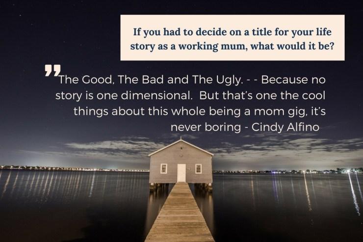 Cindy Alfino on Motherhood