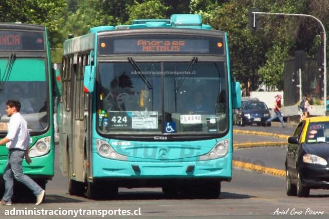Transantiago 424 | Metbus | Caio Mondego H 13.2 - Mercedes Benz / FLXS92