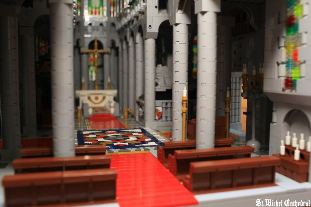 lego St.Michel Cathedral nave
