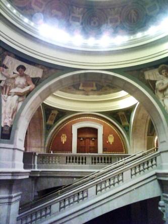 Rotunda area, Newark historic courthouse