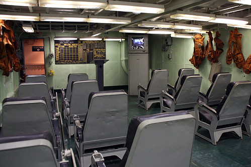 USS Yorktown Ready Room  Mission briefing room for pilots