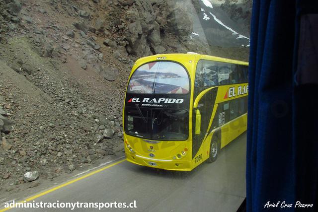 El Rápido Internacional | Paso Los Libertadores | Metalsur Starbus 2 - Scania / N° 7050