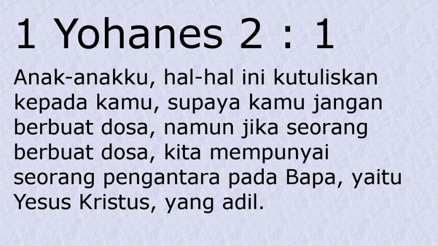 1 yoh 2 1