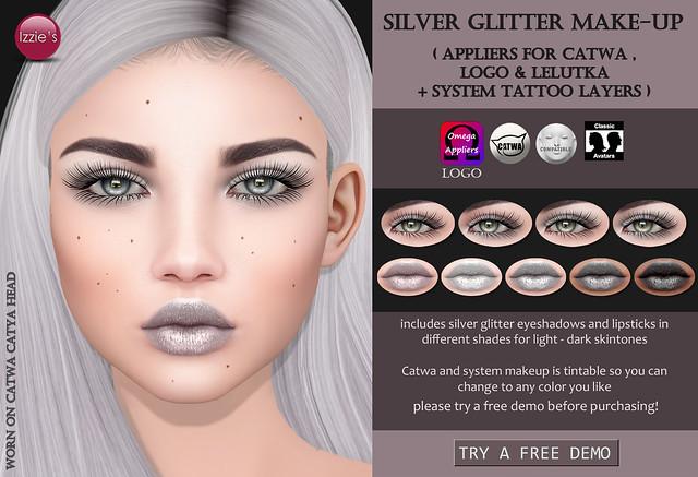 Silver Glitter Make-Up (for #UnitedAndKind)