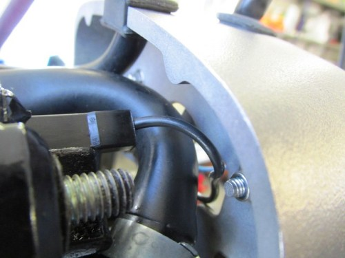 Black Wire to Solenoid Spade Terminal Routing
