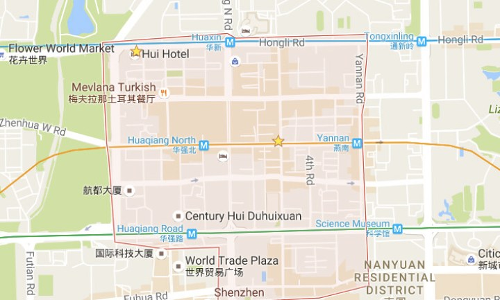 Huaqiangbei market map