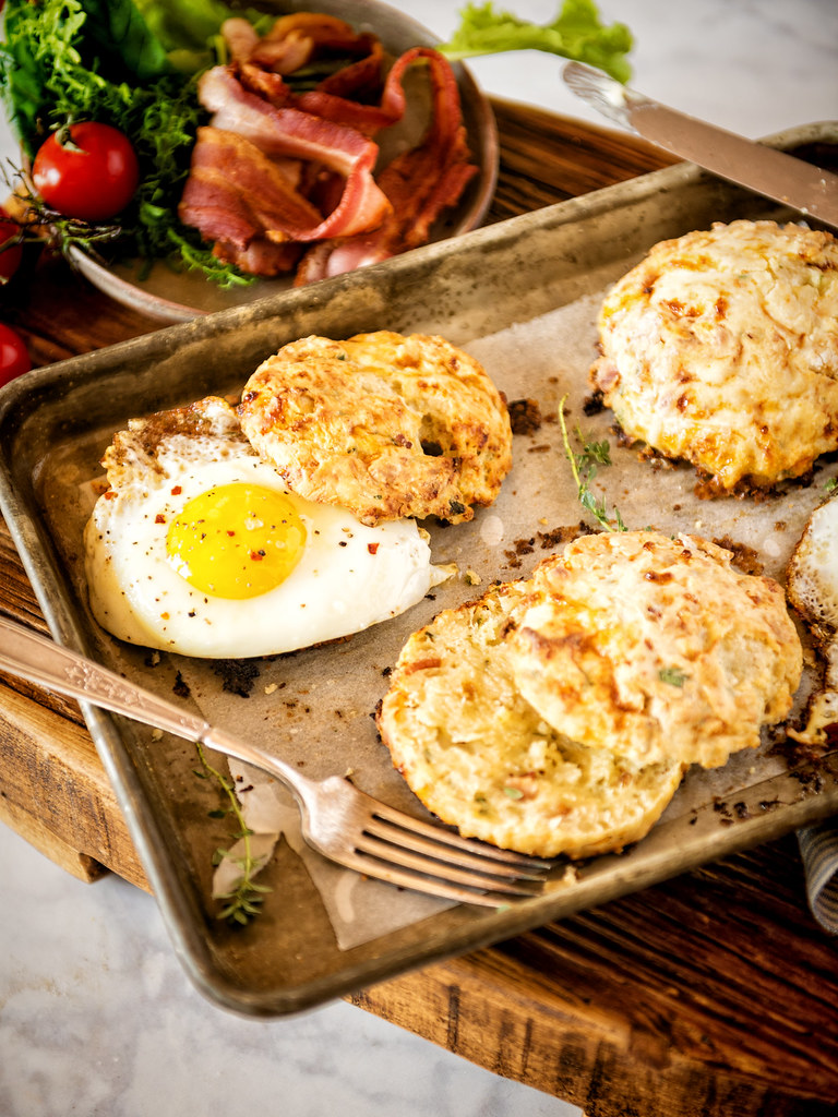 Herb Bacon and Cottage Cheese Biscuits {Girl Carnivore}