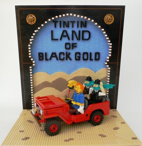 Lego Tintin Land of Black Gold