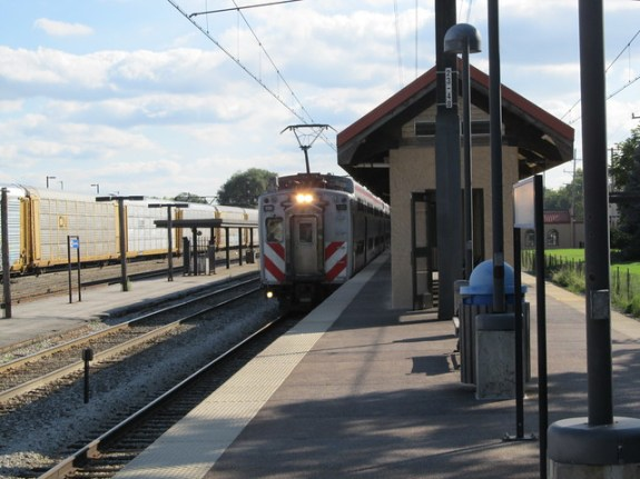 Metra Electric Train at the Homewood Station