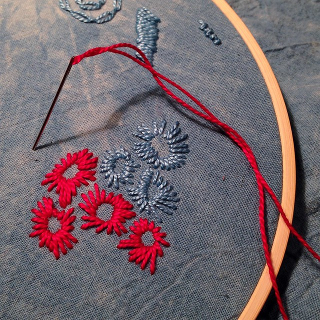 Mark making with thread