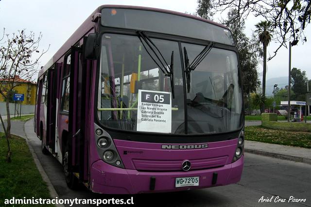 Transantiago F05 | STP Santiago | Neobus Mega - Mercedes Benz / WG7205