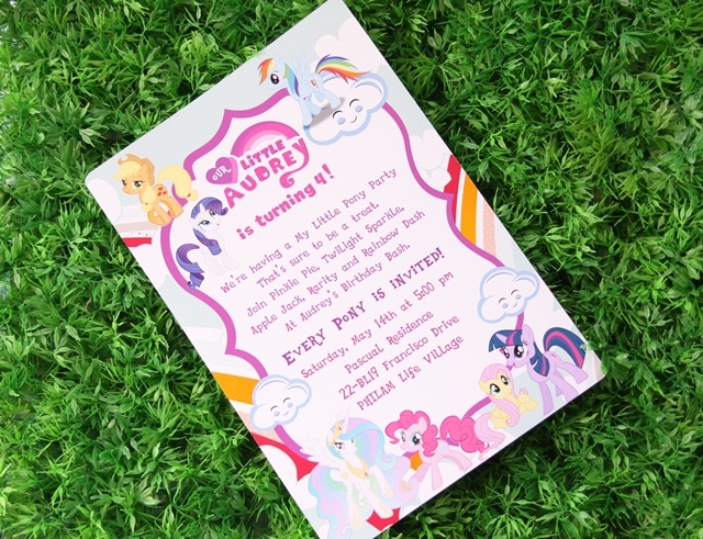 Audreys my little pony themed party 4th birthday party doll manila guests were ushered in by none other than rainbow dash herself so one can rest assured that the party will be packed with games colorful paper medallions solutioingenieria Gallery