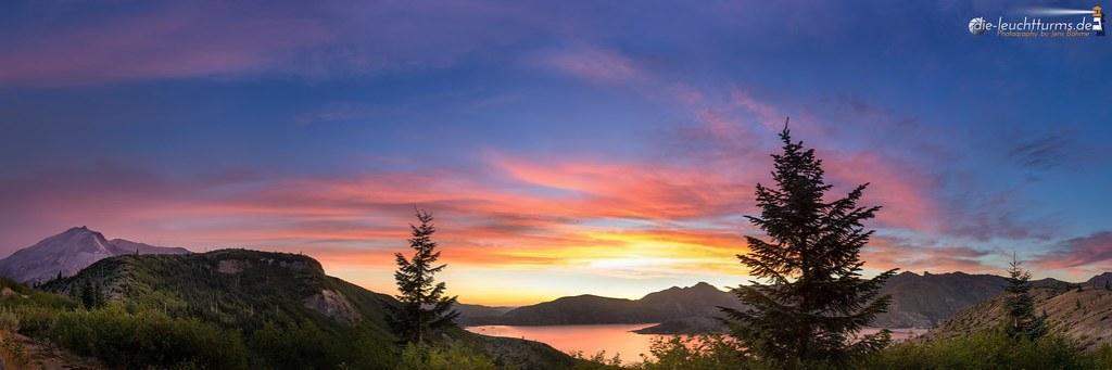 Spirit Lake under the evening sky