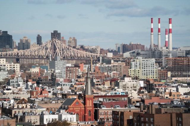 View of Brooklyn & Queensbridge from William Vale Hotel - Williamsburg, Brooklyn