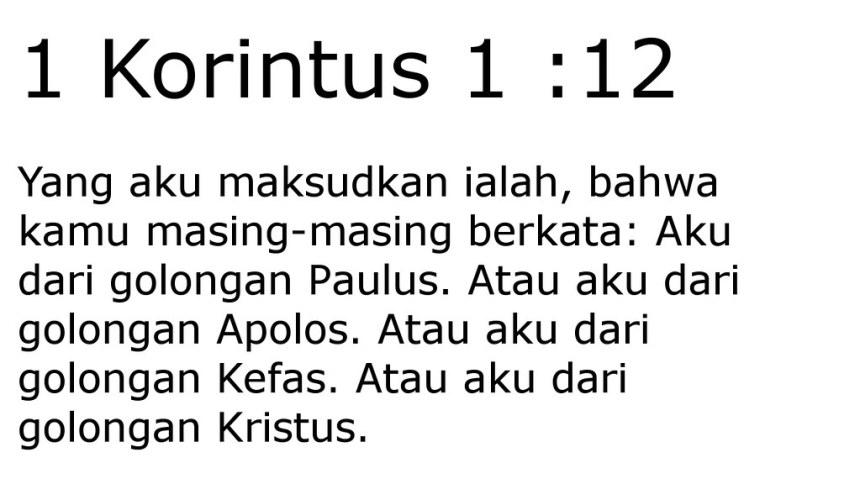 1 kor 1 12
