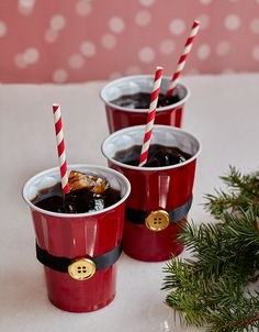 Homemade Parties DIY Party _How to Make Santa Cups15