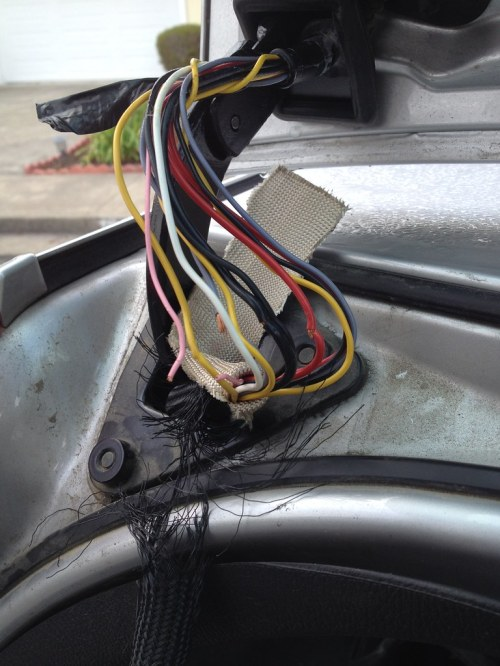 small resolution of rear gate open warning alarm randomly triggered rear hatch wiring loom problems