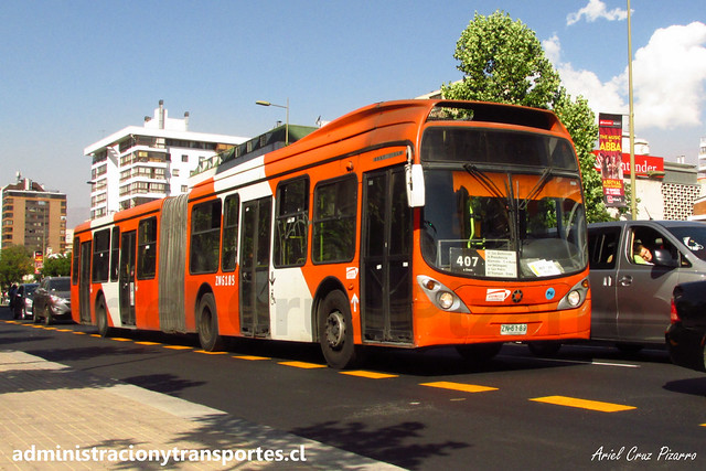Transantiago 407 | Express | Marcopolo Gran Viale - Volvo B9 SALF / ZN6189