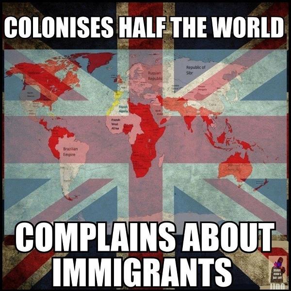 Coloniza medio mundo se queja del inmigrante