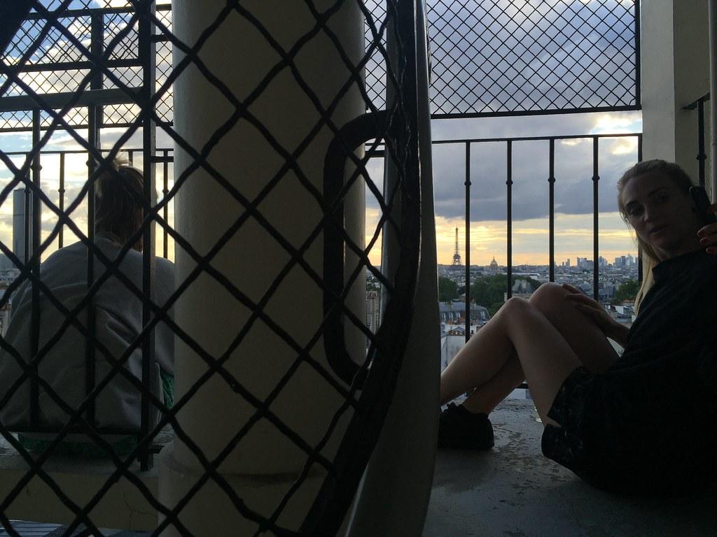 Paris 2016 staircase sunset