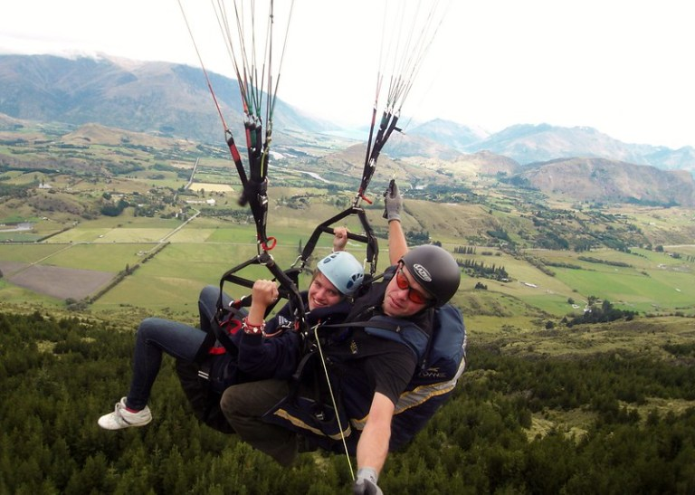 Paragliding outside Queenstown, South Island, New Zealand - the tea break project solo female travel blog