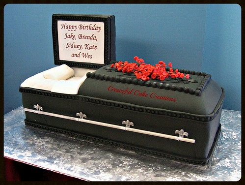 3 D Casket Birthday Cake Grace Tari Flickr