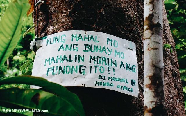 Slogan at Bulawan Falls