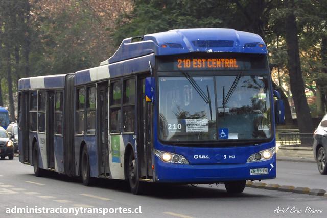 Transantiago - 210 | Subus Chile | Caio Mondego LA - Volvo B9 SALF / ZN5574 - 9002