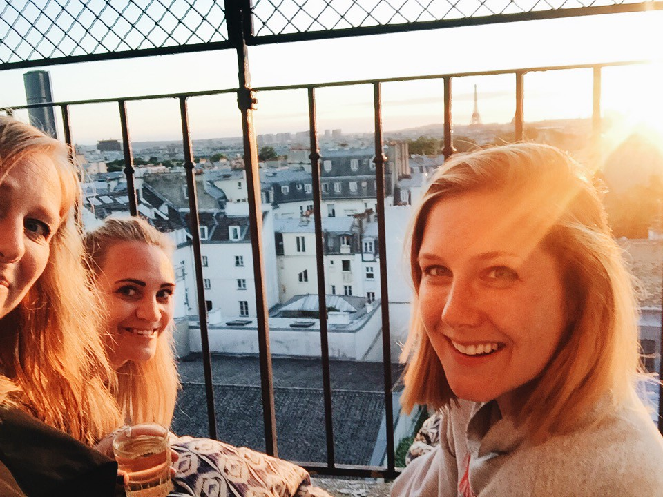 Paris 2016 me lina kat sunset eiffel tower