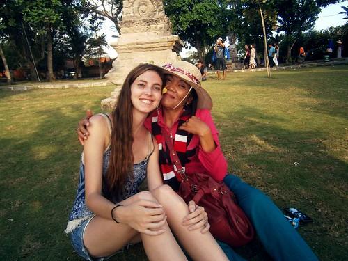 Briana With a Local Tourist