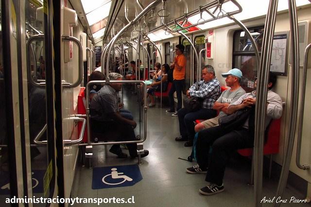 Metro de Santiago | Interior CAF NS2012 N2123