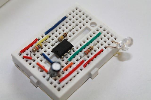 555 Timer One Shot Circuit
