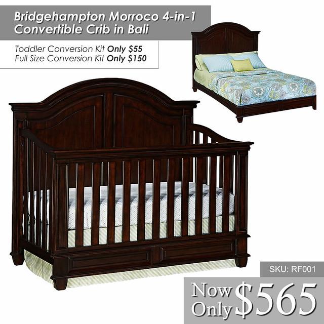 Bridgehampton Morroco 4 in 1 Convertible Crib in Bali