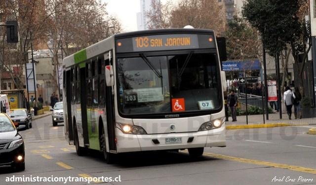 Transantiago 103 | Alsacia | Caio Mondego L - Volvo / CJRG11