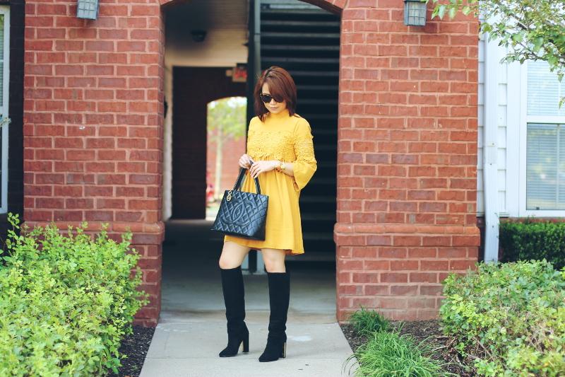 Versona-Fall-lace-Dress-tall-boots-3