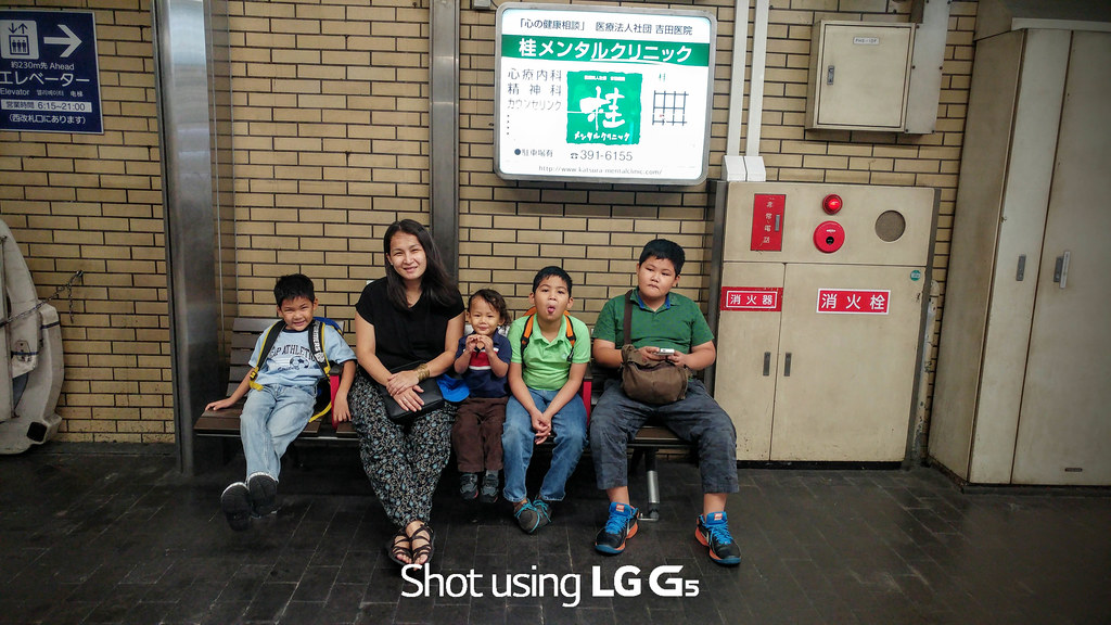 Mother & 4 boys in Kyoto