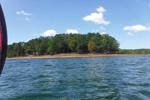 Paddling to Ghost Island in Lake Hartwell-92