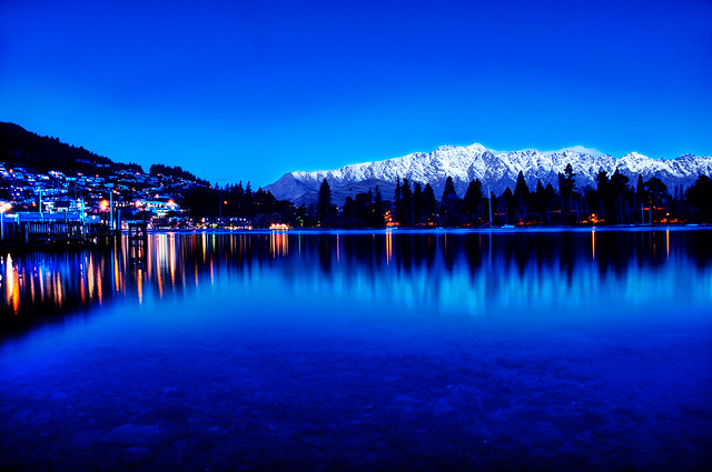 Queenstowns Blue Mountains - New Zealand at the Blue Hour