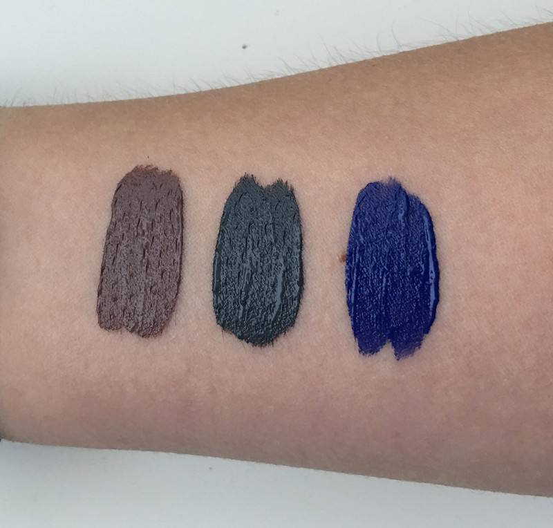 NYX Liquid Suede swatches