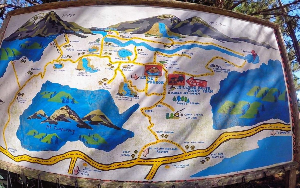 Mt. Apo Highland Resort Map