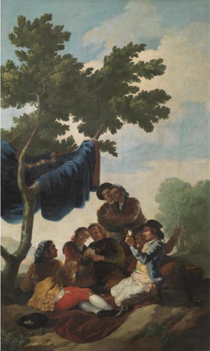 16g21 Goya El juego de naipes