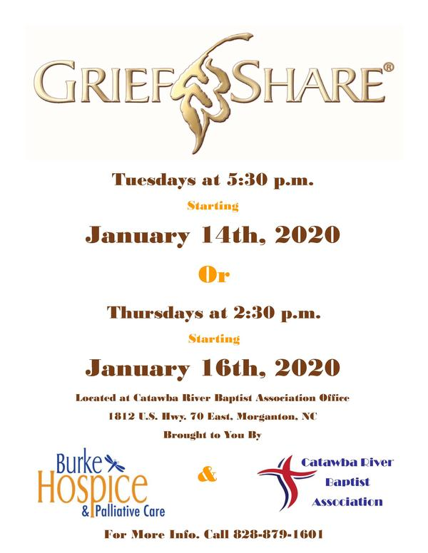 GriefShare Jan. 2020