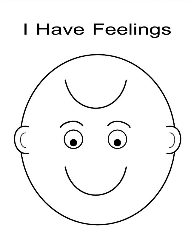 I have feelings coloring sheet - Coloring Pages