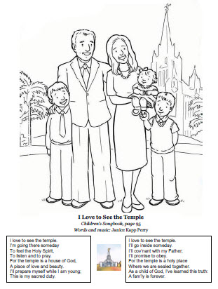 I love to see the temple (coloring page)