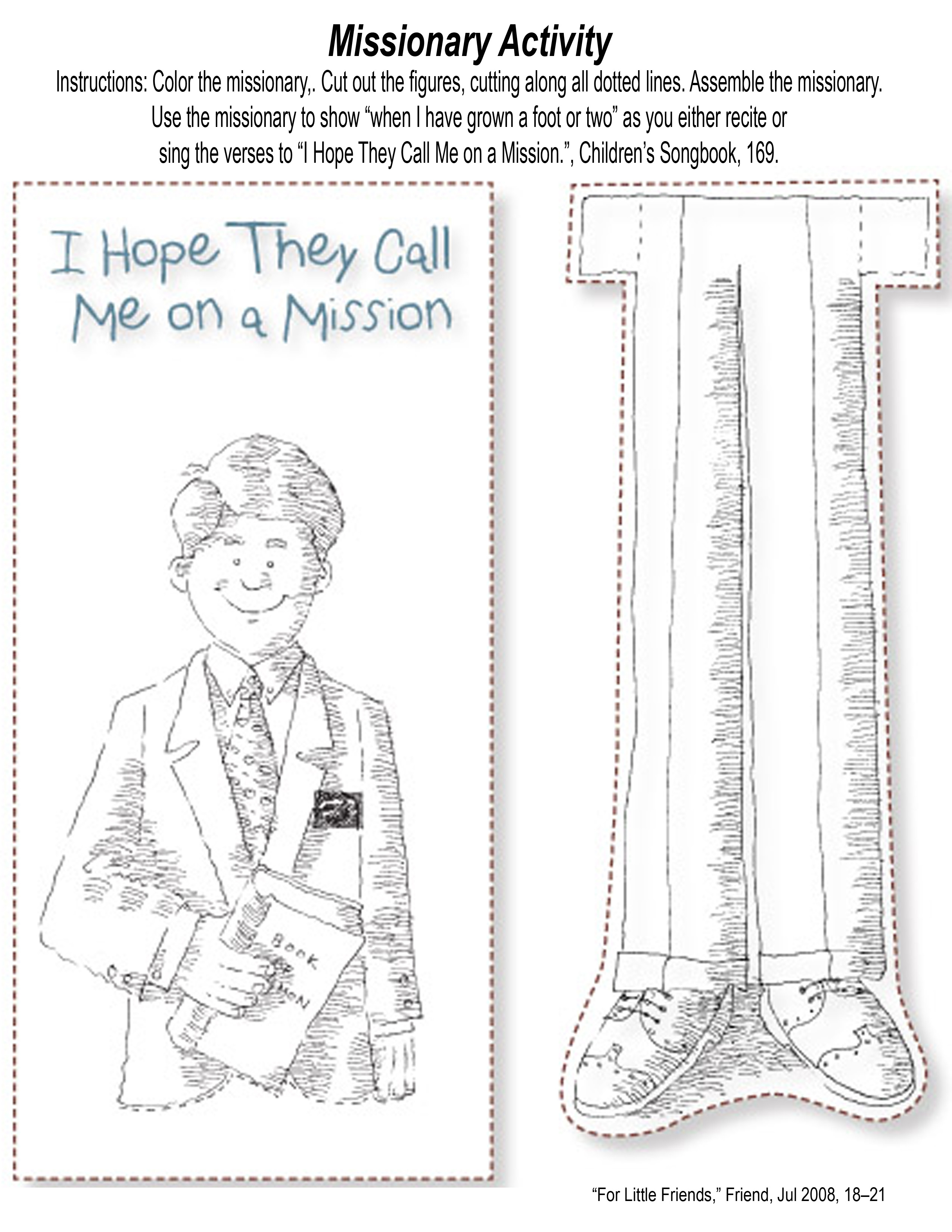 Youth Missionary Worksheet