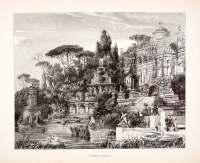 1886 Wood Engraving (Photoxylograph) Roman Villa Italy ...