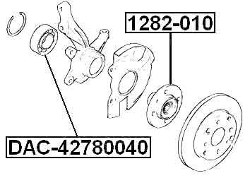 Front Wheel Bearing 42X78X40 For Hyundai I30 (2007-2012