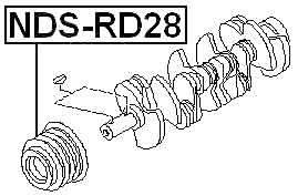 Crankshaft Pulley Engine Rd28 For Nissan Patrol Y61 (1997