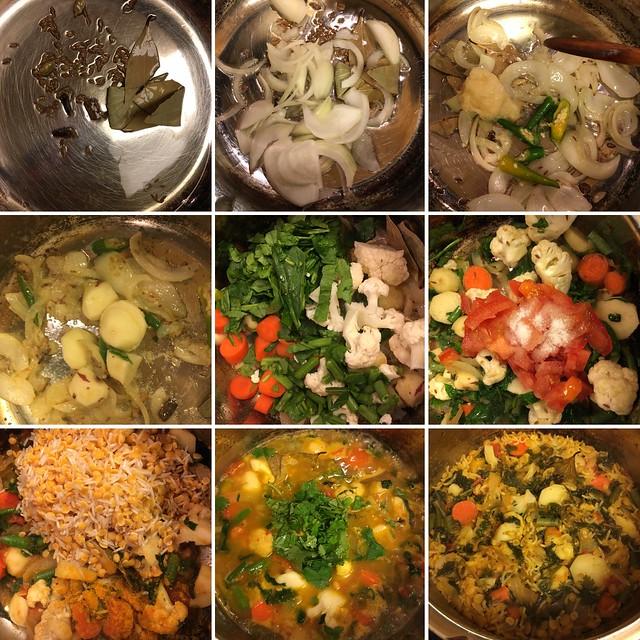 Step by step preparation of toor dal khichdi in a pressure cooker, toor dal khichdi with vegetables, kandi pappu khichdi, Arhar dal Khichdi,