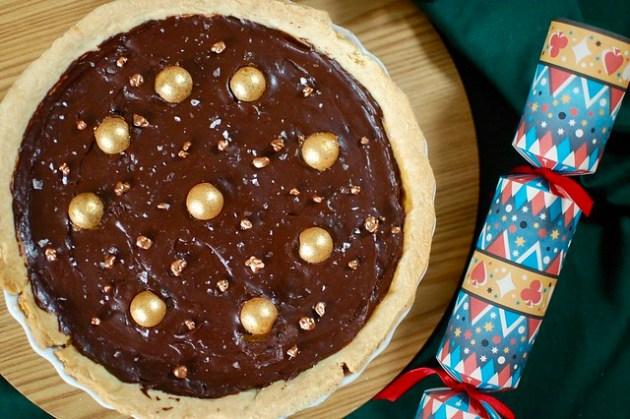 Salted Caramel Chocolate Tart